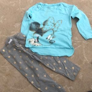 Disney Miley Mouse top and bottom